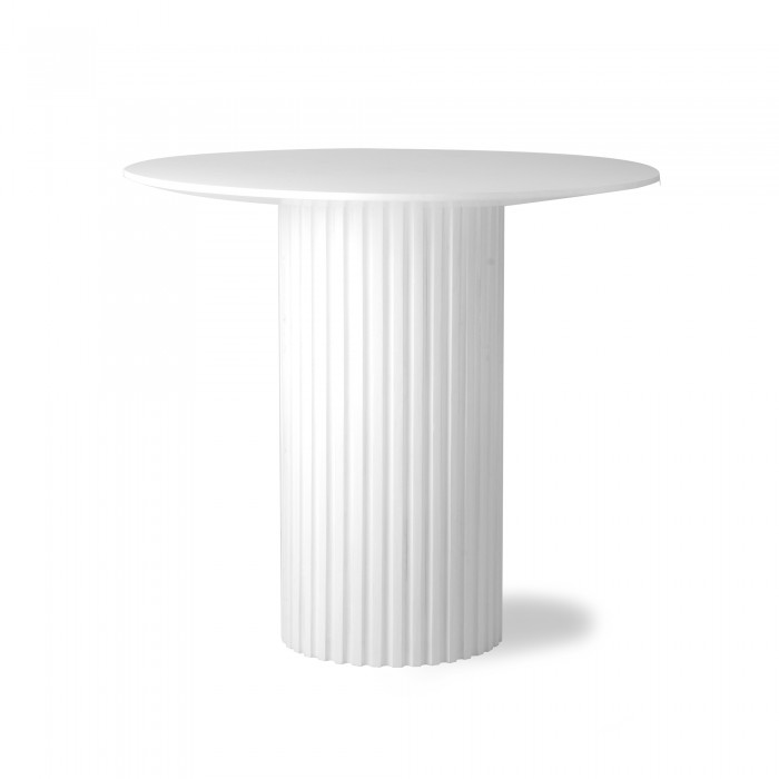 table d appoint ronde pillar blanche hk living