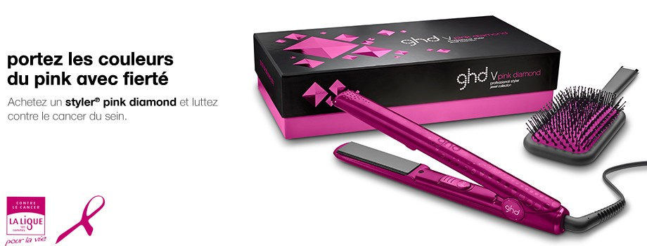 pinkdiamon coffret ghd octobre rose