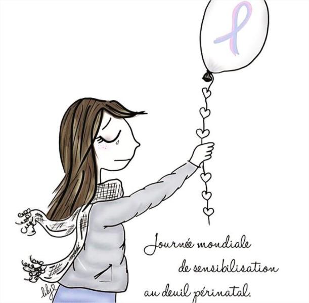 Journée mondiale de sensibilisation au deuil périnatal - illustration par Lily