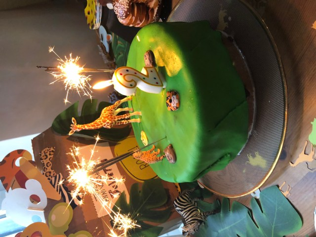 Gateau anniversaire safari jungle 2 ans