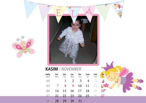 Kızımın 2012 Masa Takvimi 3