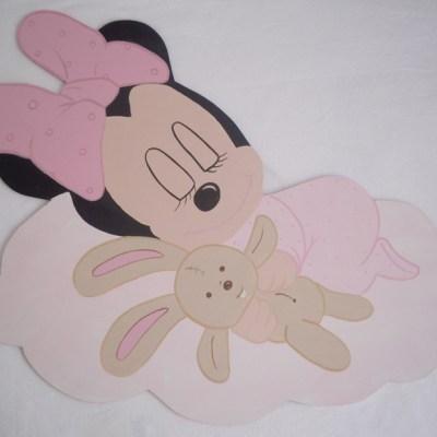 Minnie Mouse Ahşap Kapı Süsü