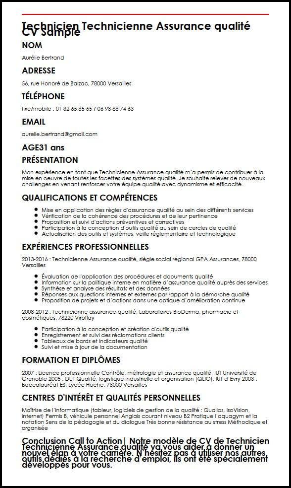 cv candidature licence professionnelle