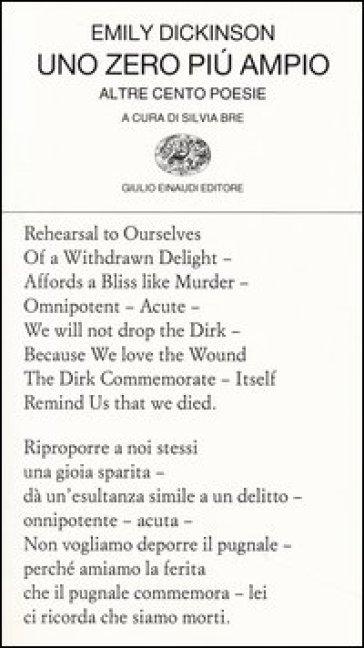 Uno zero pi ampio Altre cento poesie Testo inglese a