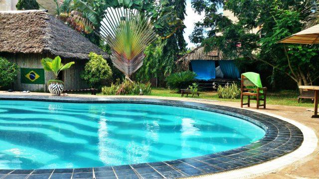swimming pool in Diani Beach, Kenya