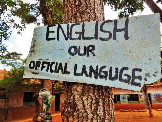 Sign in wrong English in Kenya