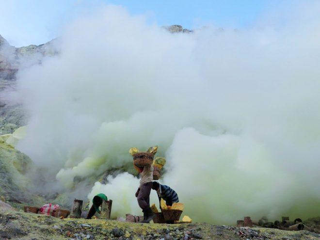 blue fire in indonesia