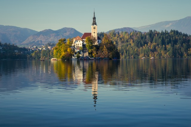 Lake Bled in Slovenia with its charming island in the middle