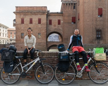In Ferrara while Travelling Europe by bike