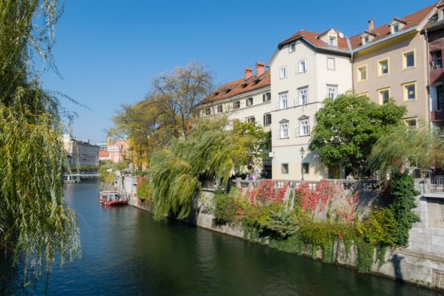 A stroll by Ljubljanica River is one of the best things to do in Slovenia