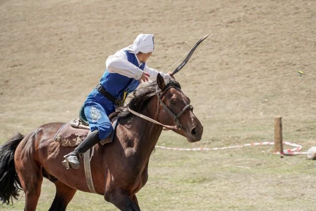 tiro com arco a cavalo nos Jogos mundiais nômades