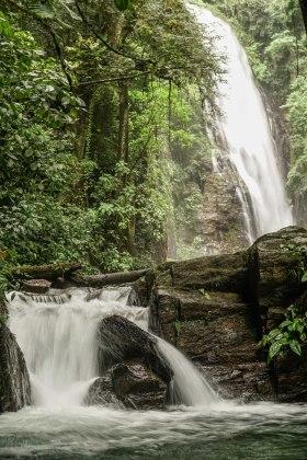 two waterfalls in Brazil
