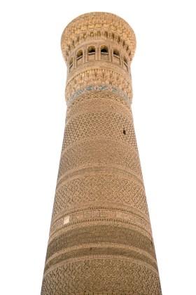 Minarete em Bukhara no Uzbequistão