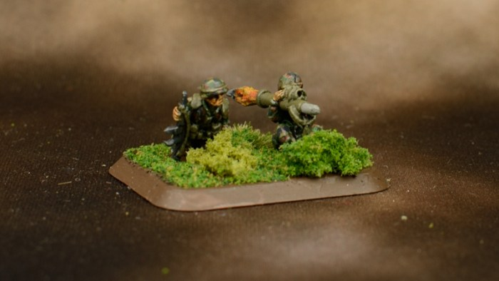 Infantry in Woodland BDU 7