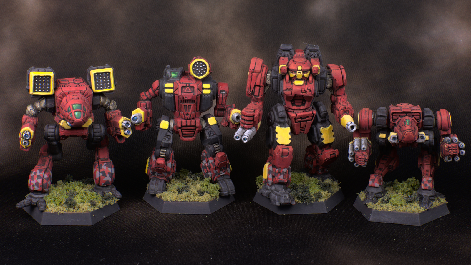 4 Clan Blood Scorpion mechs 9