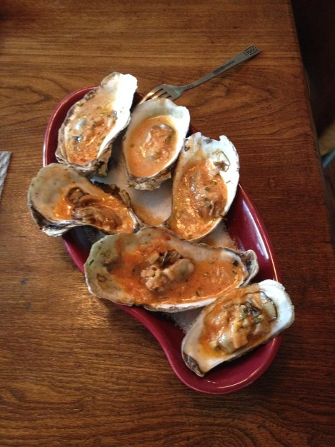 Grilled Oysters with Rose Sauce