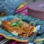 Mexican Shrimp Crepes with Pasilla Sauce