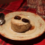 Chestnut Mousse with Almond Milk sauce