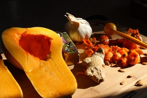 Ingredients for Curried Roasted Squash Soup