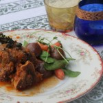 Braised Lamb Shanks with spring vegetables and mint gremolata