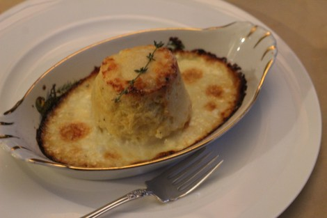 Twice Baked Goat Cheese Souffles