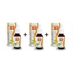 Vitamine D3 ++ Huile Triopack 3 x d-plantes