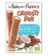 Crousty roll cacao et noix de coco Le Pain Des Fleurs