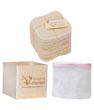 Kit Eco Belle : 15 carrés démaquillants lavables Coton Bio Biface + filet + boite en Les Tendances D Emma