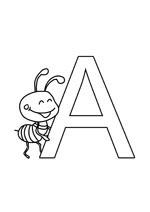 La lettre de l'alphabet a en coloriage