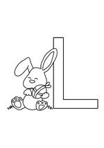 Coloriage à imprimer de la lettre de l'alphabet L