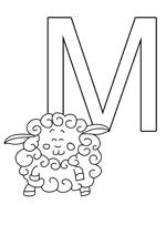 La lettre M à imprimer pour les enfants
