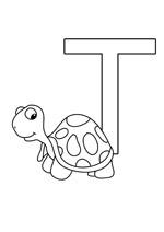La lettre t à colorier pour les enfants