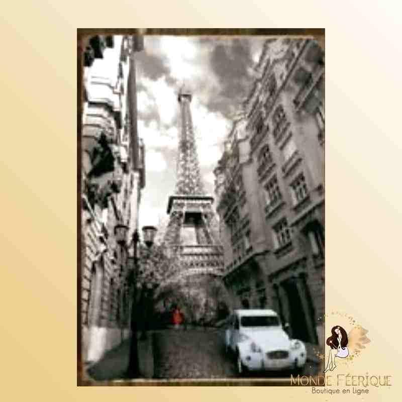 Deco De Mur Paris Et La Tour Eiffel Plaque En Metal De Decoration Retro Paris Et La Tour Eiffel