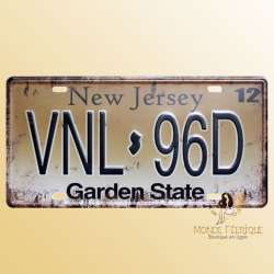 plaque decoration vintage new jersey