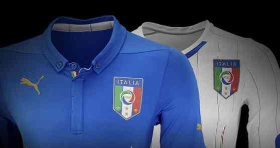"""Tenue de """"la squadra azzura"""" inspirée de la traditon italienne"""