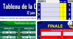 Tableau interactif pour suivre la coupe du monde