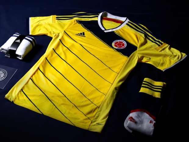 La tenue domicile de la Colombie pour la coupe du monde 2014