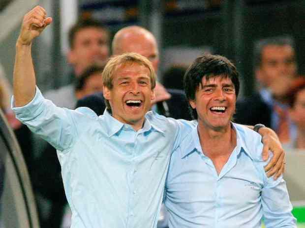 Jürgen Klinsmann et Joachim Löw, anciens collègues aujourd'hui adversaires.