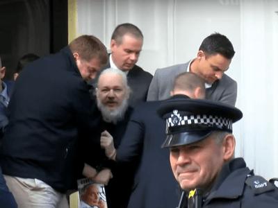 Assange traîné hors de l'ambassade «sur ordre du président»