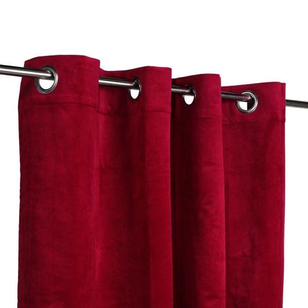 rideau velours decker rouge