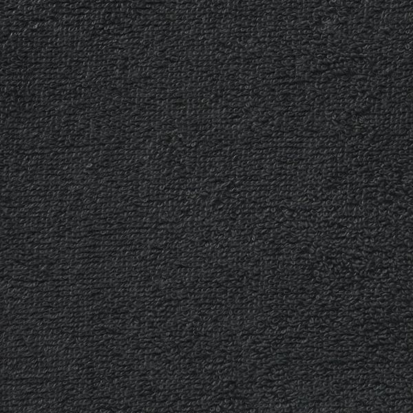 Tissu éponge noir uni Câlin