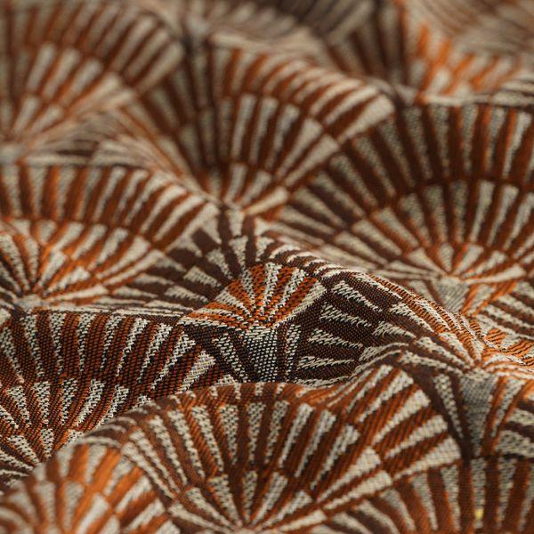 tissu jacquard palmito rouille grande largeur