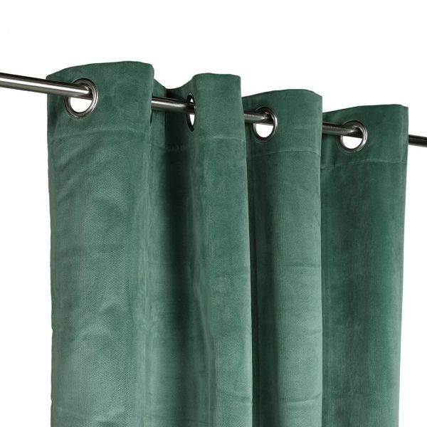 rideau velours decker vert