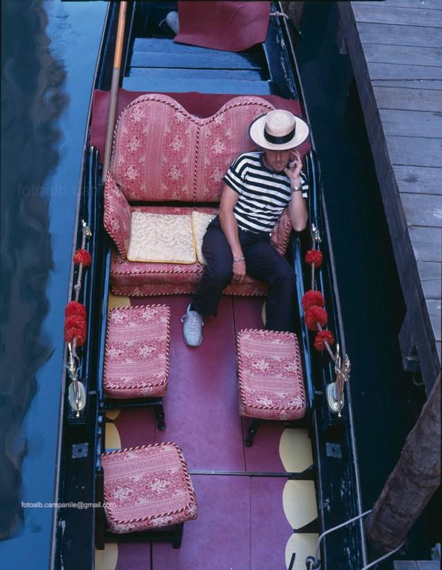 A gondola, Venice, Venezia, Veneto, Italy, Italia