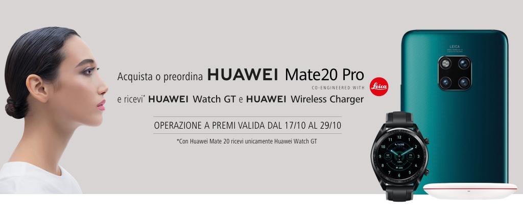 Huawei Mate20: la promozione vale anche per gli smartphone comprati con gli operatori