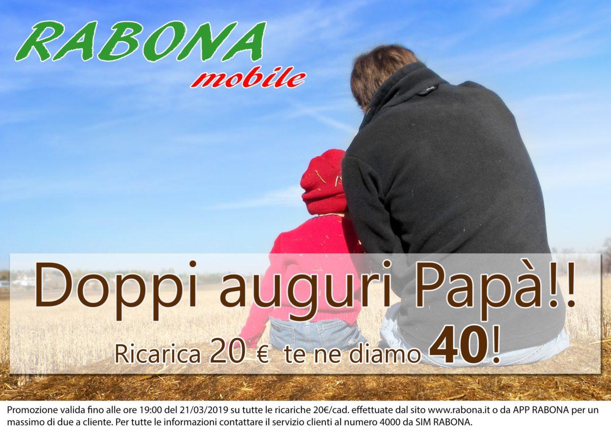 Rabona Mobile con la promo ricarica per la Festa del Papà