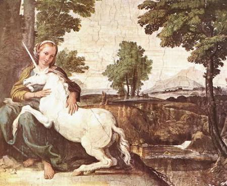 Niña con unicornio