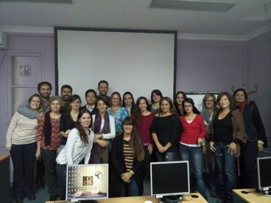 Foto con los alumnos del curso