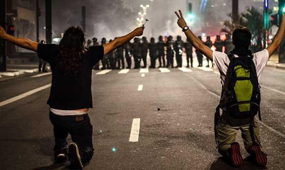 Manifestazioni in Brasile