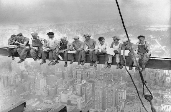 pranzo in cima al grattacielo